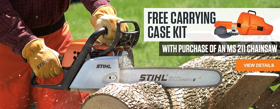 Free Carrying Case Kit with purchase of MS 211 Chainsaw